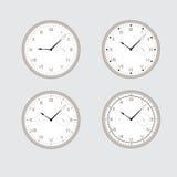 Sistema de relojes grises. Imagenes de archivo