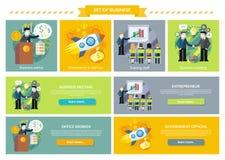 Sistema de reuniones del consejo de la inversión del concepto del negocio stock de ilustración