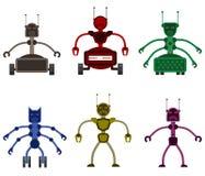 Sistema de robots malvados enojados Fotografía de archivo libre de regalías