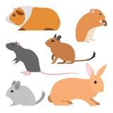 Sistema de roedores lindos del vector imagenes de archivo
