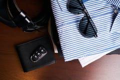 Sistema de ropa del negocio del ` s de los hombres Fotografía de archivo