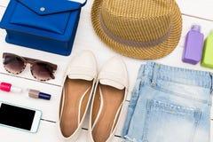 Sistema de ropa del verano Fotografía de archivo