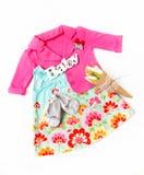Sistema de ropa para la niña Fotografía de archivo libre de regalías