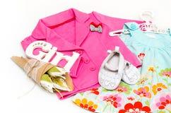 Sistema de ropa para la niña Imagen de archivo libre de regalías