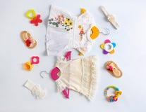 Sistema de ropa y de accesorios del bebé Imagen de archivo libre de regalías