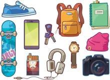 Sistema de ropa y de accesorios Imagen de archivo libre de regalías