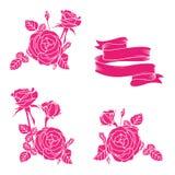 Sistema de Rose stock de ilustración