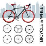 Sistema de rueda de bicicleta Fotos de archivo