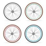 Sistema de rueda de bicicleta del vector Imagenes de archivo