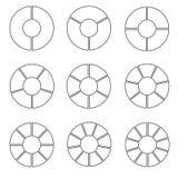 Sistema de rueda dividido en segmentos libre illustration