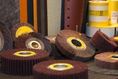Sistema de ruedas abrasivas Fotos de archivo libres de regalías