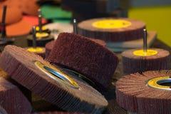 Sistema de ruedas abrasivas Fotografía de archivo libre de regalías