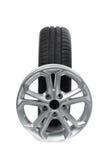 Sistema de ruedas y de neumáticos para el coche Fotografía de archivo