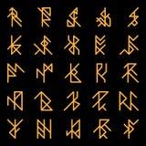 Sistema de runas antiguas abstractas Imagen de archivo libre de regalías