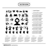 Sistema de símbolo acertado del estudio del vector Imagen de archivo libre de regalías