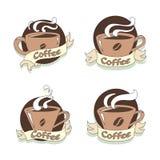 Sistema de símbolo caliente del café del ejemplo, vector ilustración del vector