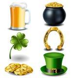Sistema de símbolo del día de St Patrick Fotografía de archivo libre de regalías