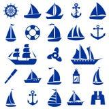 Sistema de símbolo del velero Foto de archivo libre de regalías
