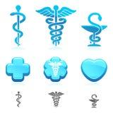 Sistema de símbolo médico. Vector Foto de archivo libre de regalías