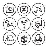 Sistema de símbolos africanos Imagen de archivo libre de regalías