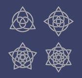 Sistema de símbolos célticos del nudo Fotografía de archivo