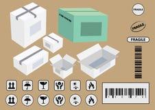 Sistema de símbolos de empaquetado Imagenes de archivo