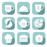 Sistema de símbolos de la comida Foto de archivo