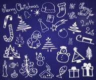 Sistema de símbolos de la Navidad Foto de archivo libre de regalías