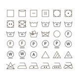 Sistema de símbolos que se lavan fotos de archivo libres de regalías