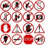 Sistema de símbolos rojo de la prohibición libre illustration
