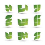 Sistema de símbolos simple geométrico 3d, iconos abstractos del extracto del vector Fotografía de archivo libre de regalías