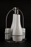 Sistema de sal, de pimienta y de aceite Imagen de archivo
