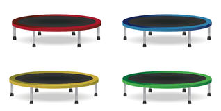 Sistema de salto del trampolín del círculo Ilustración aislada del vector Equipo atlético para la aptitud interior o al aire libr Fotografía de archivo libre de regalías
