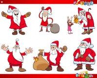 Sistema de Santa Claus Christmas Characters Fotografía de archivo libre de regalías