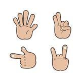 Sistema de señales de mano Foto de archivo libre de regalías