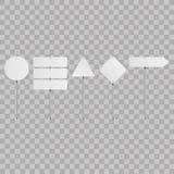 Sistema de señales de tráfico en blanco en fondo transparente Ilustración del vector Imagen de archivo