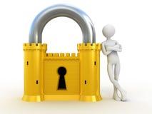 Sistema de segurança de confiança Imagens de Stock Royalty Free