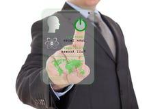 Sistema de segurança futurista Fotos de Stock Royalty Free