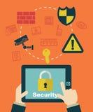 Sistema de seguridad libre illustration