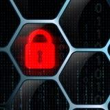 Sistema de seguridad de la cerradura que brilla intensamente Fotografía de archivo libre de regalías