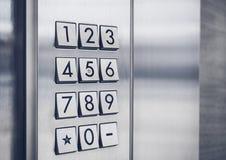 Sistema de seguridad del telclado numérico del código de la contraseña protegido Foto de archivo libre de regalías
