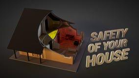 Sistema de seguridad en el hogar Imagen de archivo libre de regalías
