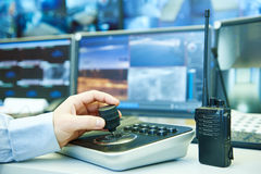 Sistema de seguridad video de la vigilancia de la supervisión Fotos de archivo libres de regalías