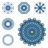 Sistema de seis mandalas Imagen de archivo
