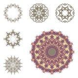 Sistema de seis mandalas Foto de archivo