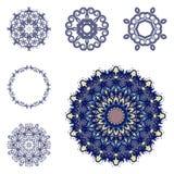 Sistema de seis mandalas Imagenes de archivo