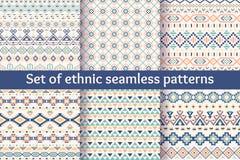 Sistema de seis modelos inconsútiles étnicos Imágenes de archivo libres de regalías