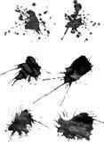 Sistema de seis movimientos del cepillo con el espray en gris Fotografía de archivo libre de regalías