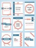 Sistema de seis plantillas de la bandera del vector Foto de archivo libre de regalías