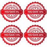 Sistema de sellos de la oferta especial Imagen de archivo